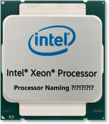 چگونگی نام گذاری CPU های Xeon شرکت Intel