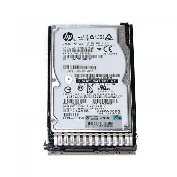 HPE HDD SAS 450GB 10K SFF هارد دست دوم سرور
