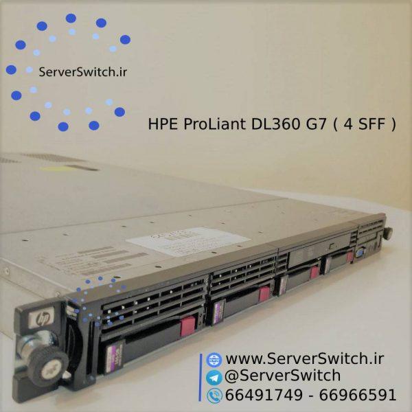 سرور یوزد اچ پی DL360 G7 4 SFF به همراه DVD