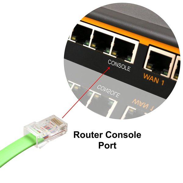 کابل کنسول سيسکو (Rollover)(USB to LAN)