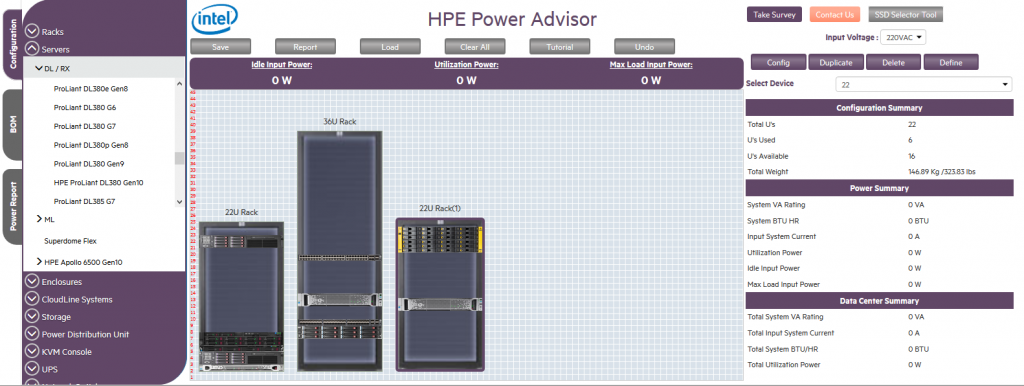 Annotation2 1024x386 - معرفی نرم افزار HPE Power Advisor