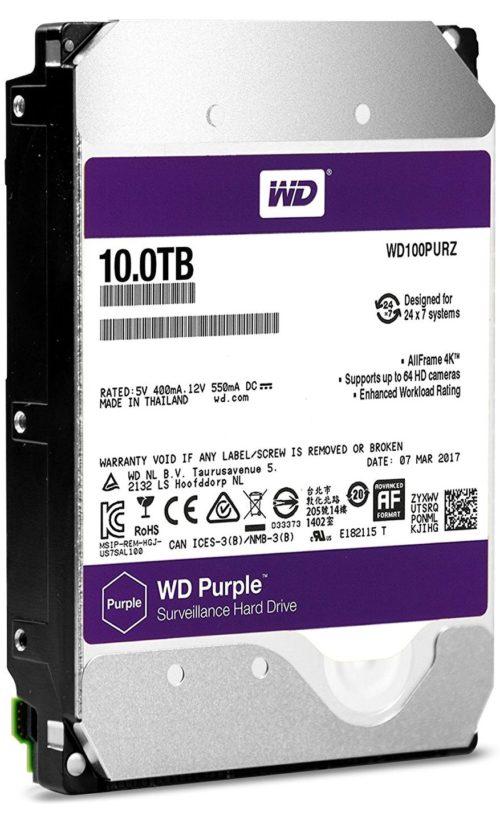 WD Purple 10TB Surveillance Hard Disk Drive e1508832405916 - مقایسه هارد دیسک های WD Purple و Seagate Skyhawk