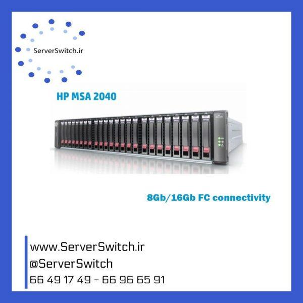 ذخیره ساز تحت شبکه اچ پی MSA 2040 K2R80A
