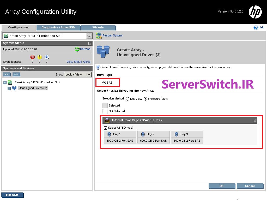 08 - کانفیگ کردن RAID روی HPE Server