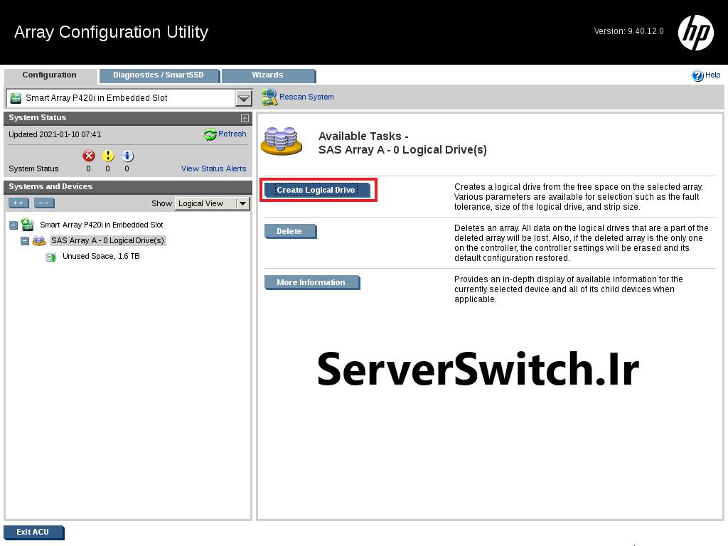 09 - کانفیگ کردن RAID روی HPE Server