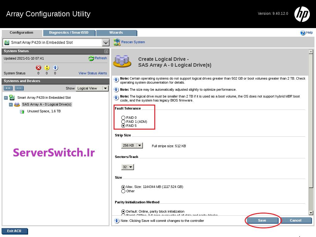 10 - کانفیگ کردن RAID روی HPE Server
