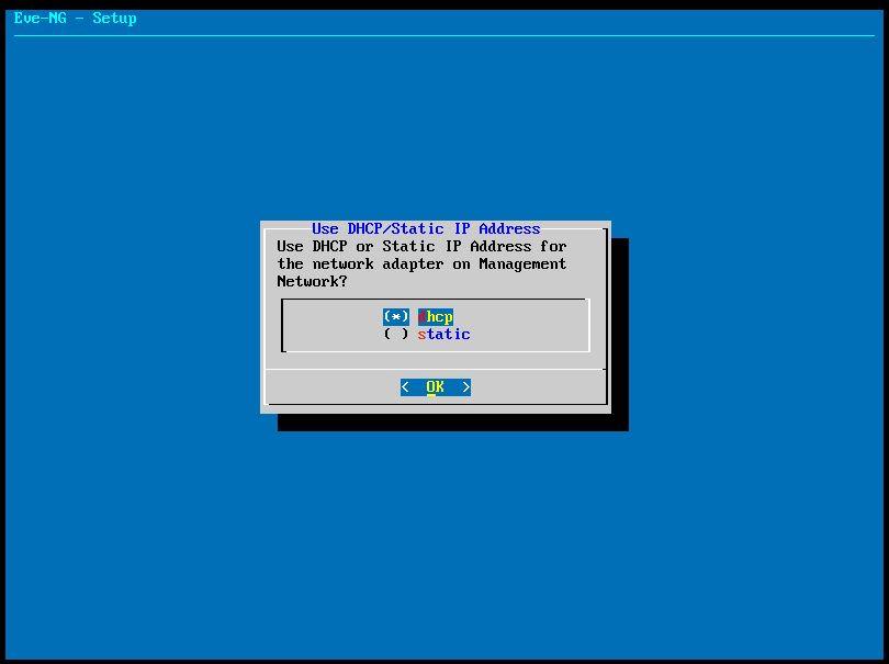 تغییر IP در eve-ng
